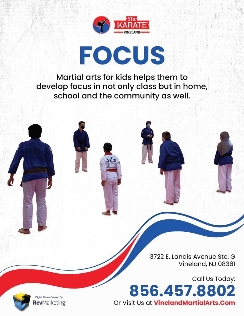 Karate students developing and displaying great focus, leading to success aspects of their lives.